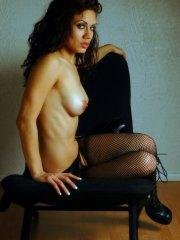 Pictures of Alex Jolie looking hot in fishnets and boots