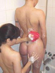 Pictures of teen cutie Angie XXX enjoying pussy in the bathroom