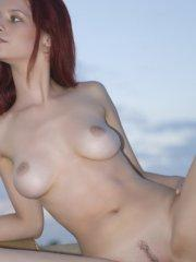 Pictures of Ariel's Blog totally nude outside