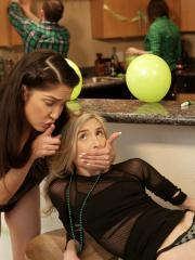 Jericha Jem and Piper Perri celebrate St. Patrick's Day with a threesome