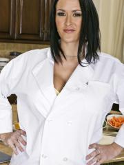 Busty chef Carmella Bing gets fucked hard in the kitchen