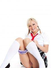 Pictures of teen porn model Bree Olson being a slutty schoolgirl