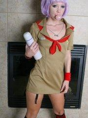 Pictures of teen model Candie Crush in a girl scouts uniform