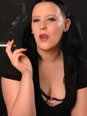 Pictures of Chloe Dove smoking a cigarette