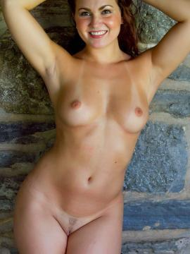 Pictures of a hot brunette amateur with nice boobs