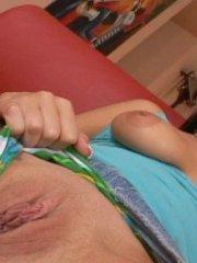 Pictures of Hottie Hollie enjoying a love stick