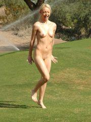 Pictures of Dream Kelly playing naked outside