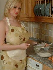 Pictures of teen Dream Of Ashley getting dirty in the kitchen