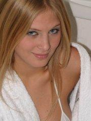 Pictures of teen star Erica Star teasing in a bath robe