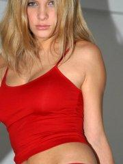 Pictures of Erica Star dressed in red for you on Valentine's Day