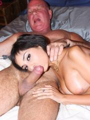 Horny coed Trinity St Clair bangs her step-dad