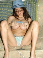 Pictures of teen Harmony Ann waiting for you on the couch