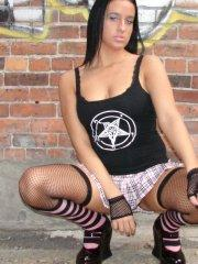Pictures of teen star Hottie Hollie flashing outside