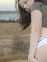 Pictures of It\'s Sarah Time teasing outside