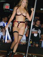 Pictures of teen Jenna Haze working the strip clubs