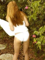 Pictures of teen girl Jenny Heart exposing herself in the woods