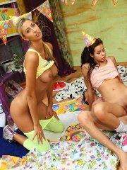 Pictures of Kiki 18 getting cock for her birthday