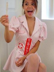 Pictures of teen Kona Kalani dressed as a naughty nurse