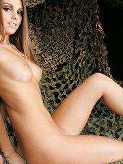 Pictures of Lacey Alexandra naked in a camo net
