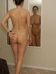 Pictures of Lana Brooke checking herself out in the mirror