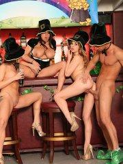 Pictures of Lexi Belle enjoying a hot St. Patrick's Day orgy