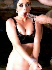Pictures of Lexi Belle bound and gagged for your pleasure