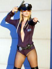 Pics of Lia 19 dressed as a bad cop