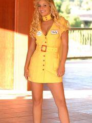 Pics of Lia 19 dressed as a hot flight attendant