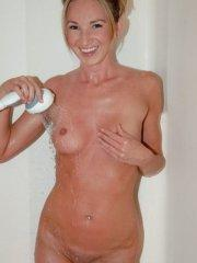 Tiffany takes a hot shower