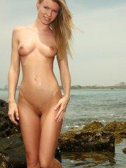 Pictures of Marketa 4 You hanging out on a beach