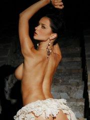 Pictures of Jenya D naked on a stone staircase