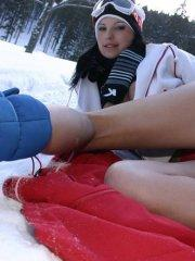 Pictures of Mili Jay masturbating in the snow
