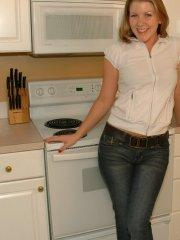 Pictures of My Wife Ashley being kinky in the kitchen