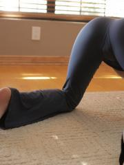 Yoga turns into masturbation when Jayden Taylors cant keep her hands off her pussy