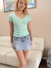 Blonde teen Carmen Callaway shows what she's got in her casting shoot