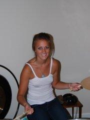 Pictures of teen hottie Piper Fox playing the drums with no clothes on