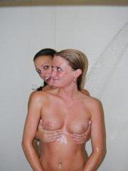 Pictures of Piper Fox getting all wet with her girlfriend