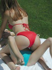Pictures of two hot teens in bikinis
