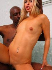 Pictures of Sabrina Blond enjoying a massive black cock