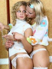 Pictures of Sweet Ira getting some sweet lesbian teen pussy