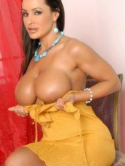 Pictures of Lisa Ann taking it all off for you