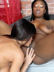 Pictures of teen The Lisa Ann getting some lesbian action