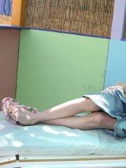 Pictures teen amateur Tiny Tabby flashing outside