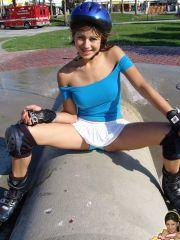 Pictures of teen cutie Trixie Teen flashing outside